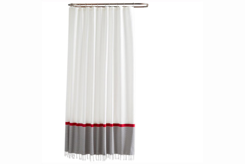 Frills And Grace Shower Curtain Stand Out Shower Curtains Real Simple