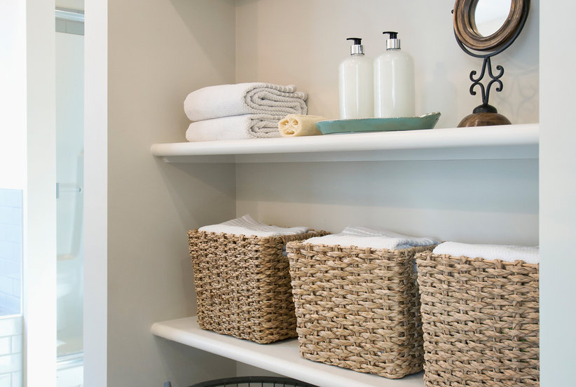 Should You Store Bath Towels in the Bathroom?