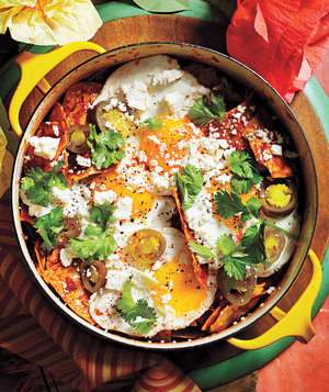 ... this is my chilaquiles with fried eggs chilaquiles with fried eggs