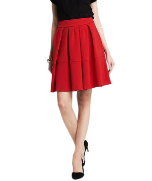 banana-republic-red-full-skirt