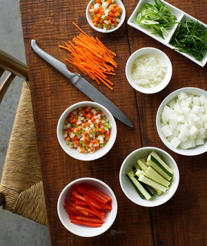 vegetables-table-prep-bowls