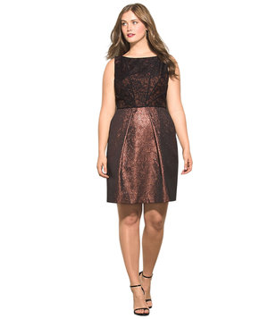 plus-size-jacquard-dress