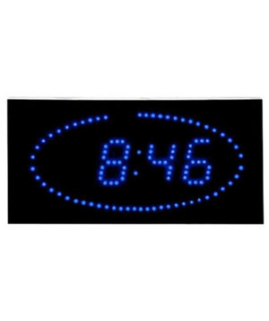 led-ellipse-blue-clock