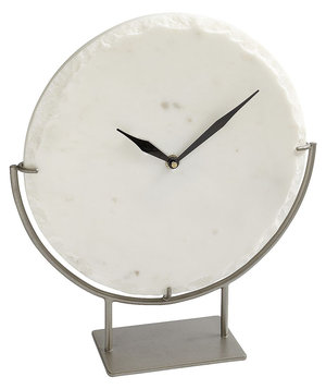 white-marble-clock-stand
