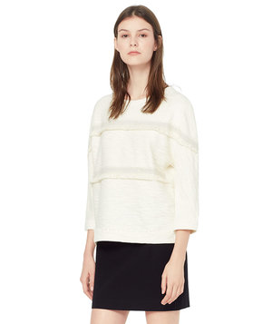 mango-textured-cotton-blend-sweatshirt