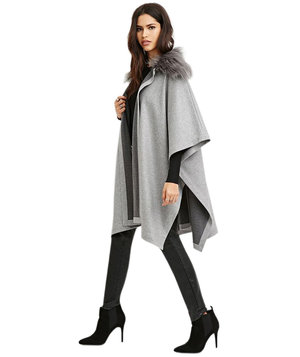 faux-fur-collar-poncho