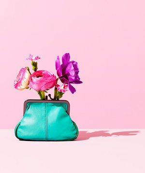 flowers-teal-wallet