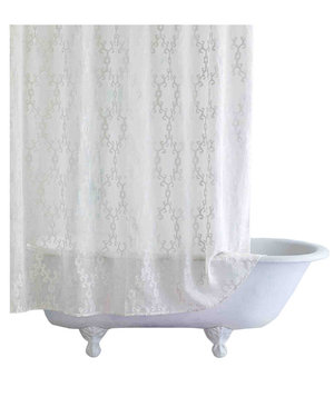 White Shower Curtain 6 stylish shower curtains | real simple