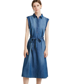 forever-21-belted-chambray-popover-dress