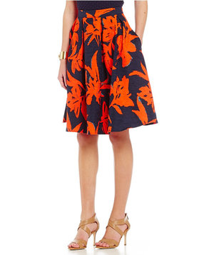lucy-paris-abstract-floral-a-line-skirt