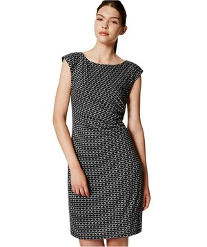 loft-mosaic-side-shirred-dress