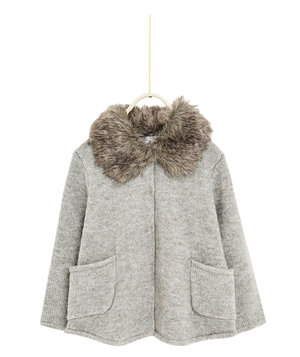 zara-girls-cardigan-with-fur-lined-collar