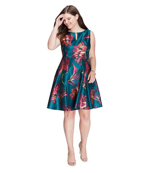 lane-bryant-floral-keyhole-dress-gabby-skye