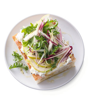 Endive and Pear Focaccia