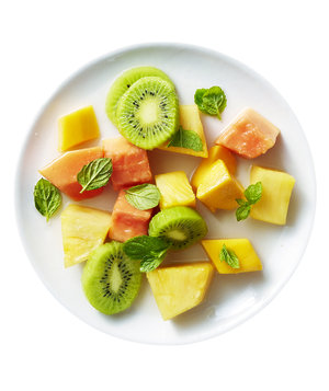 Fruit Salad With Ginger and Lemongrass