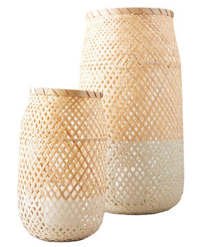 wicker-candle-holder