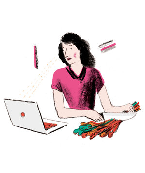 woman-chopping-vegetables-computer