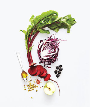 beets-cabbage-nuts-apple-vegetables-honey