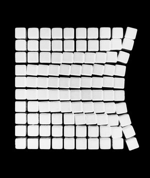 white-cubes-black-background