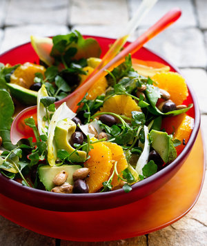 dressed-green-salad
