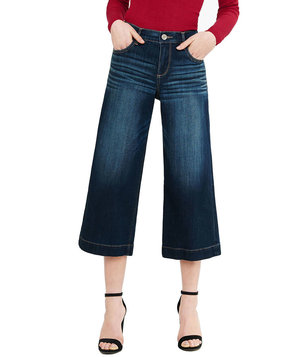 express-high-rise-denim-culottes