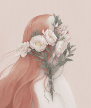 woman-flowers-face