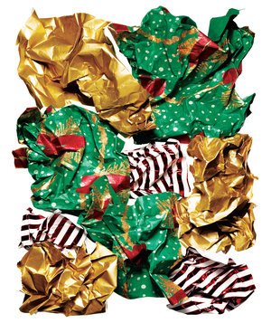gold-green-red-wrapping-paper