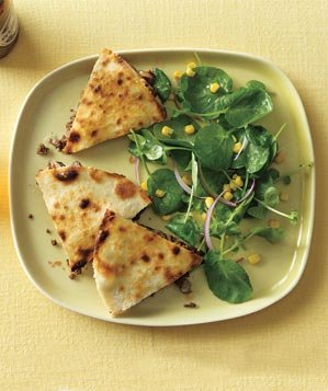 beef-quesadillas-salad