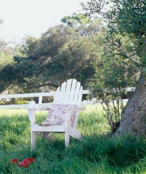 white-adirondack-chair-outside