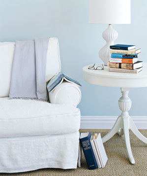 white-chair-side-table-books