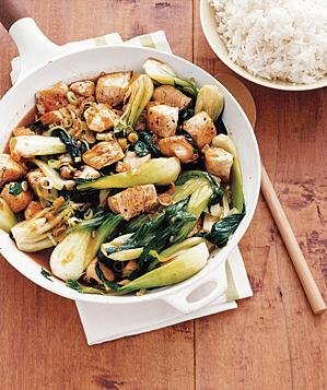 Chicken and Bok Choy Stir-Fry Recipe | Real Simple