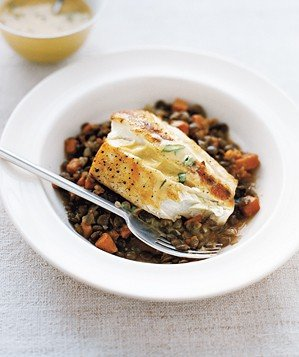 halibut-with-lentils