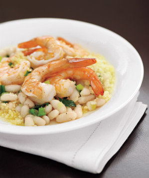 shrimp-beans-couscous-plate