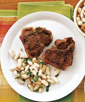 seared-lamb-white-bean-mint-salad
