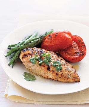 grilled-chicken-green-beans-tomatoes