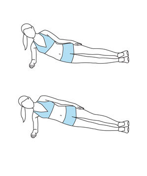 Move 5 side plank get stronger abs in 15 minutes real for Plank muscles worked diagram