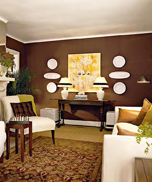 brown with yellow decorating with brown real simple. Black Bedroom Furniture Sets. Home Design Ideas