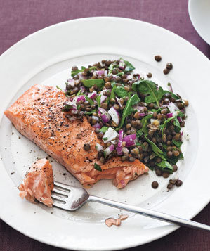salmon-warm-lentil-salad