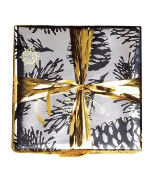 gift-wrapped-silver-pinecone-paper