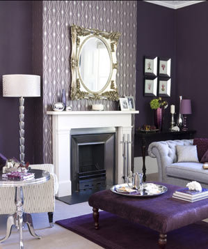 photo - Purple Living Room