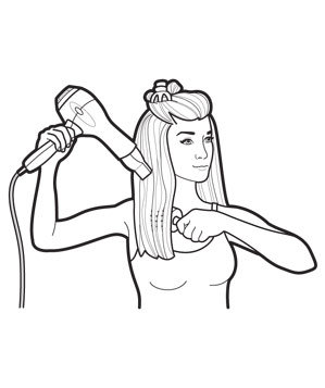 Straight Hair, Step 1: Predry and Section | The Easy ...