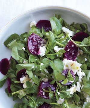 watercress-beets