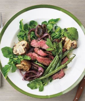 grilled-steak-mushroom-and-green-bean-salad
