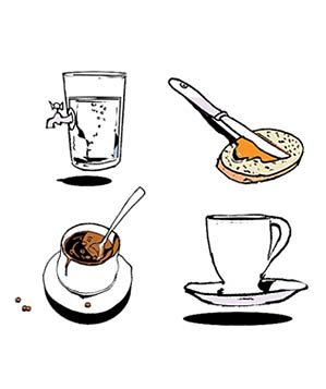 illustration-water-breakfast-lunch-and-tea