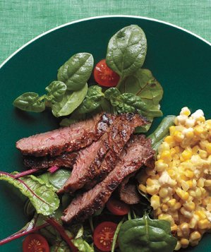 cajun-skirt-steak-creamed-corn