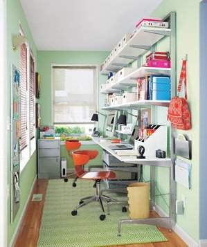 After Clever Office Solutions  A Home Office Makeover  Real Simple
