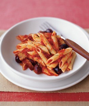 penne-bacon-black-olives