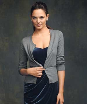 model-wearing-gray-cardigan