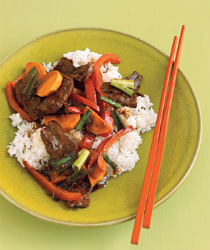 Garlicky Hoisin Beef Recipe | Real Simple