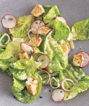 Bibb and Radish Salad With Buttermilk Dressing Recipe | Real Simple